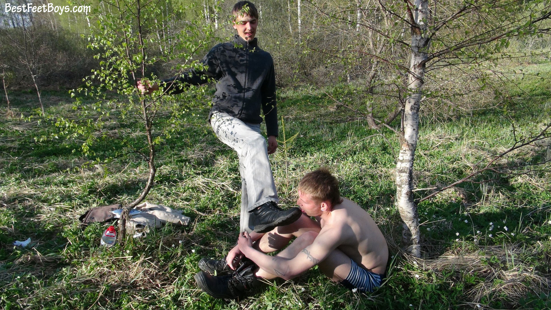Boots gay licking feet images